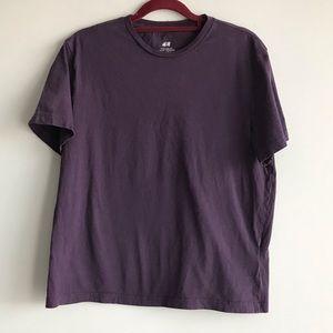 🎀 H&M Medium Size 100% Cotton Purple Tee Top